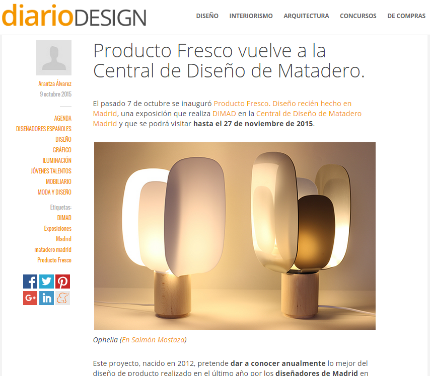 ophelia the lamp diario design
