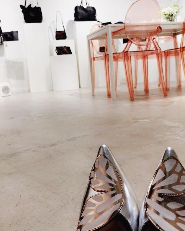 BiBi Butterfly Flats in Silver