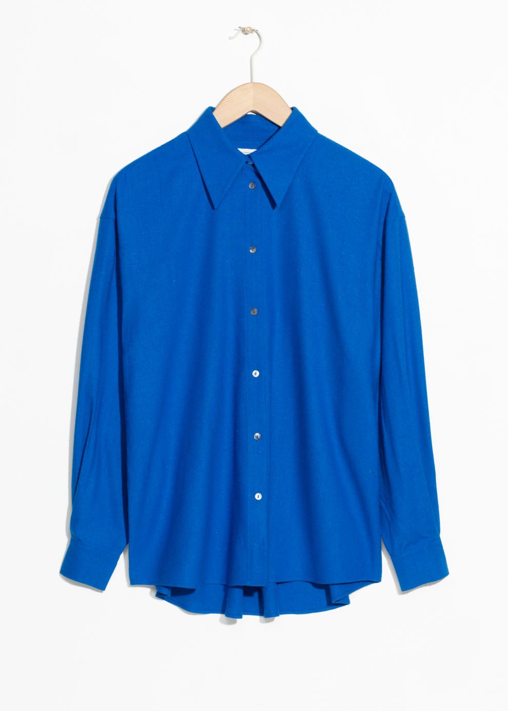 Oversized Raw Silk Button Down