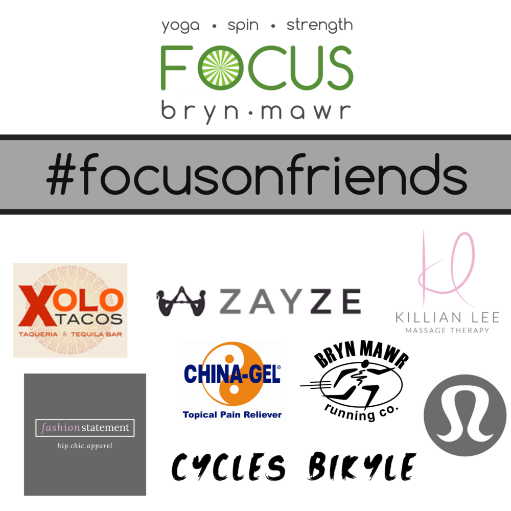Special Thanks for our Friends of FOCUS