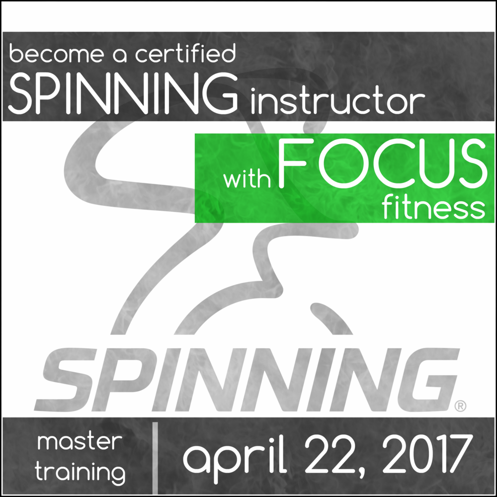 Win a spinning instructor certification focus fitness main line this comprehensive workshop will give you all the tools you need to become a certified spinning instructor and lead your 1betcityfo Gallery