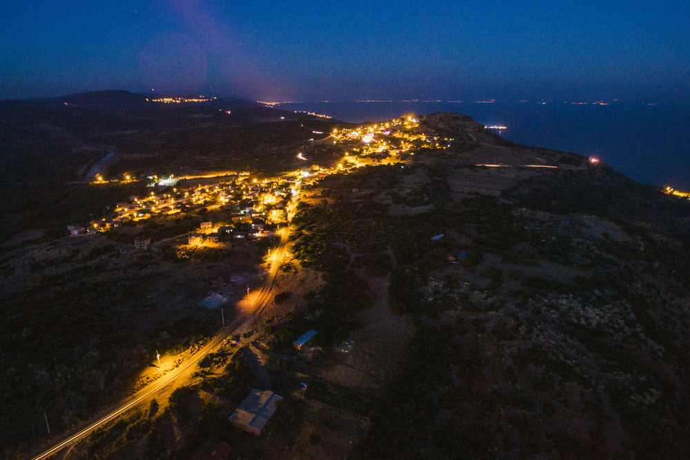 Assos from above at night