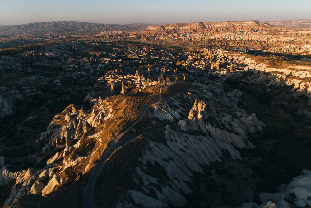 Landscape from far above, Cappadocia