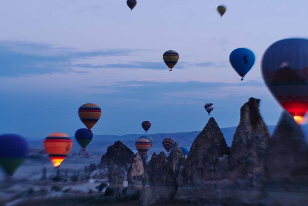 Cappadocia balloons with a Lensbaby Composer