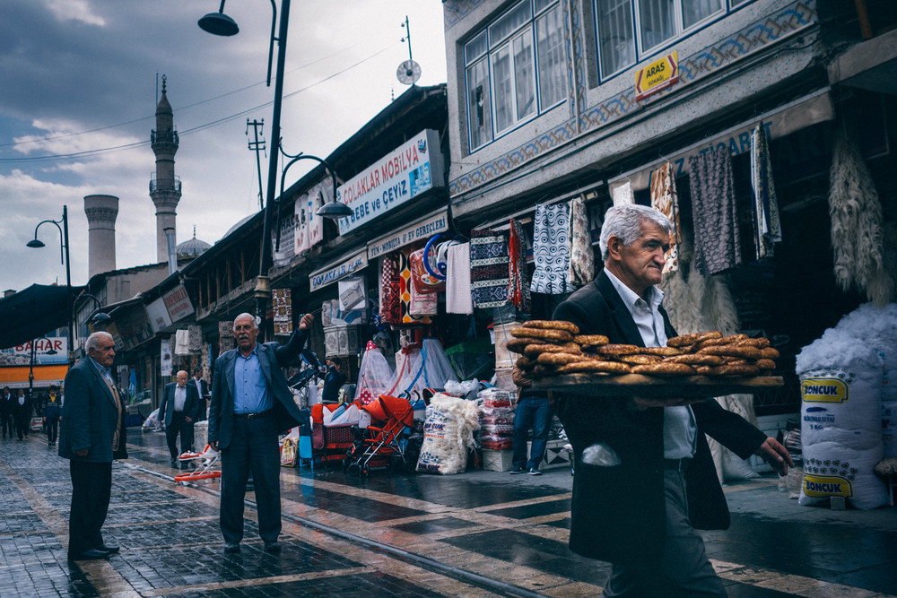 Street scene in Malatya, Turkey