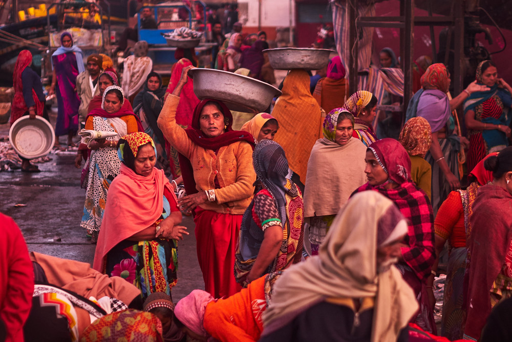 Women at the fish market