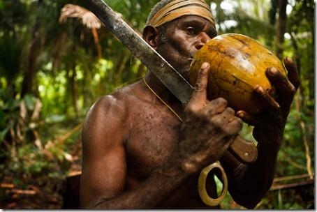 coconut drinking