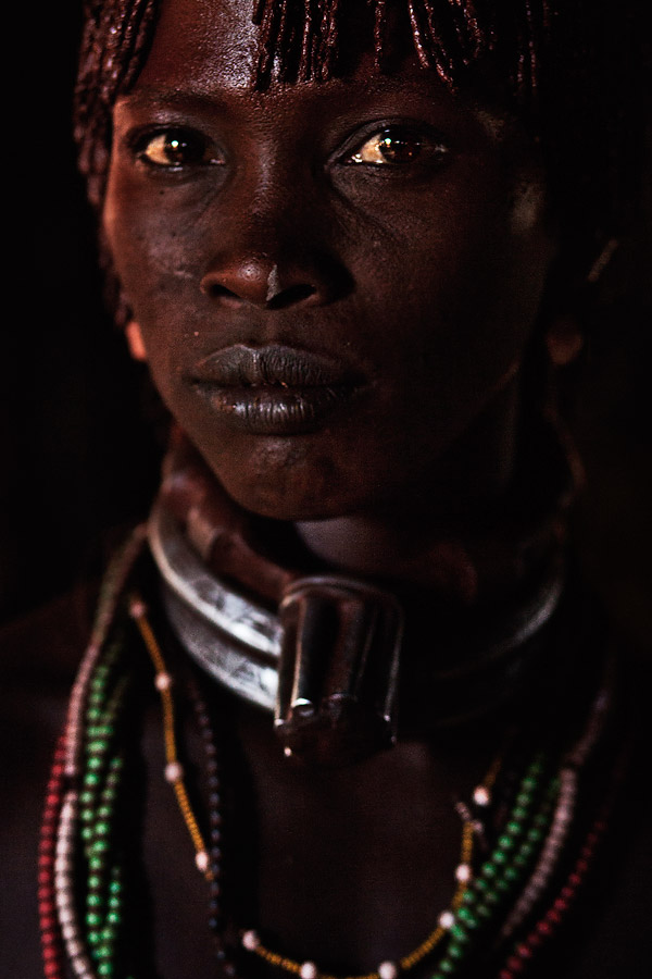 Portrait of a Hamer woman