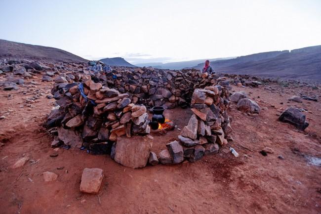 Nomad kitchen of rocks