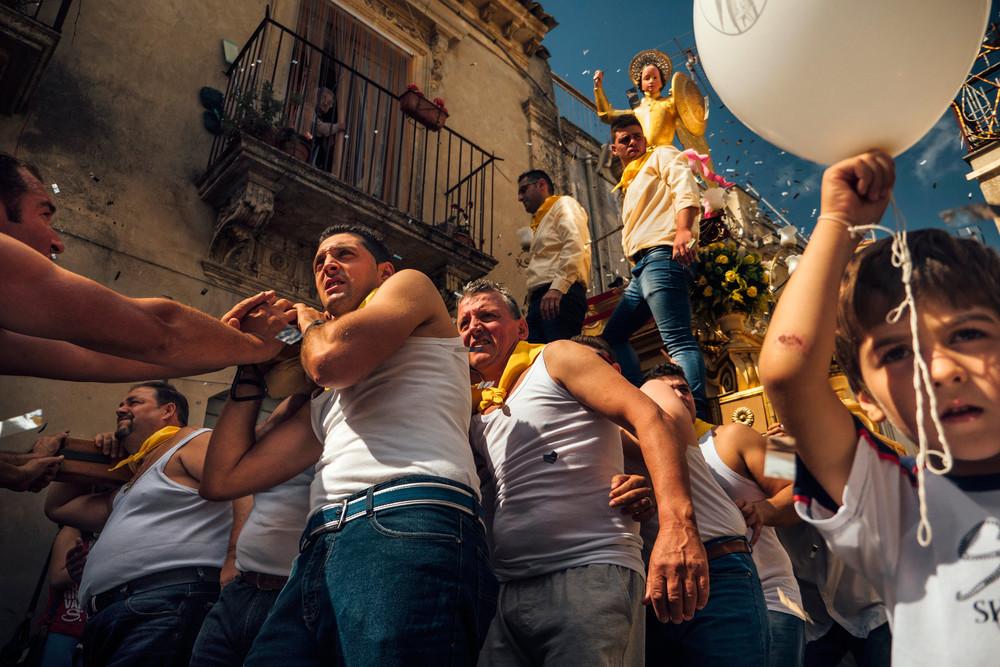 Religious procession in Sicily