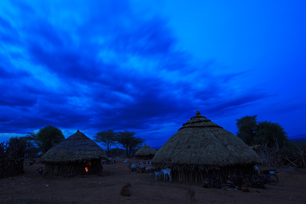 Hamer village at twilight