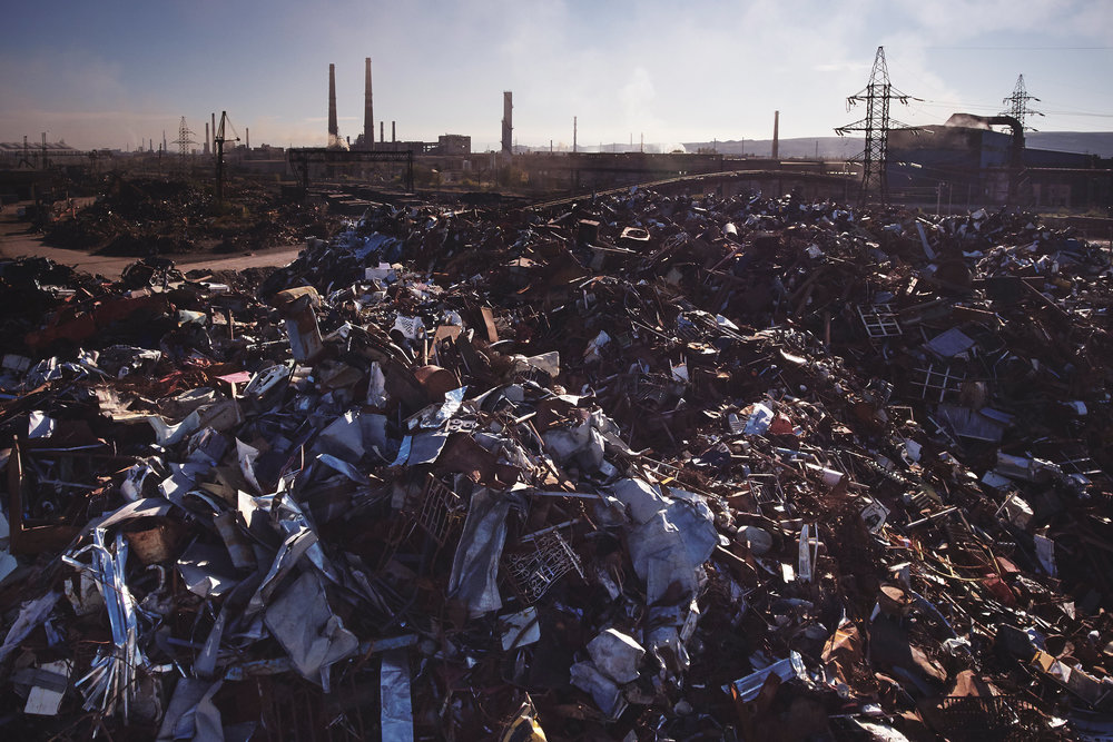 Metal-scrap-yard-Rustavi-Georgia