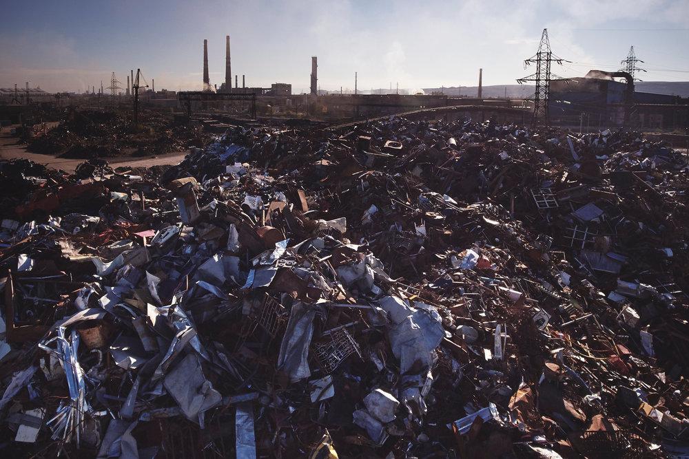 Metal-scrap-yard-Rustavi-Georgia