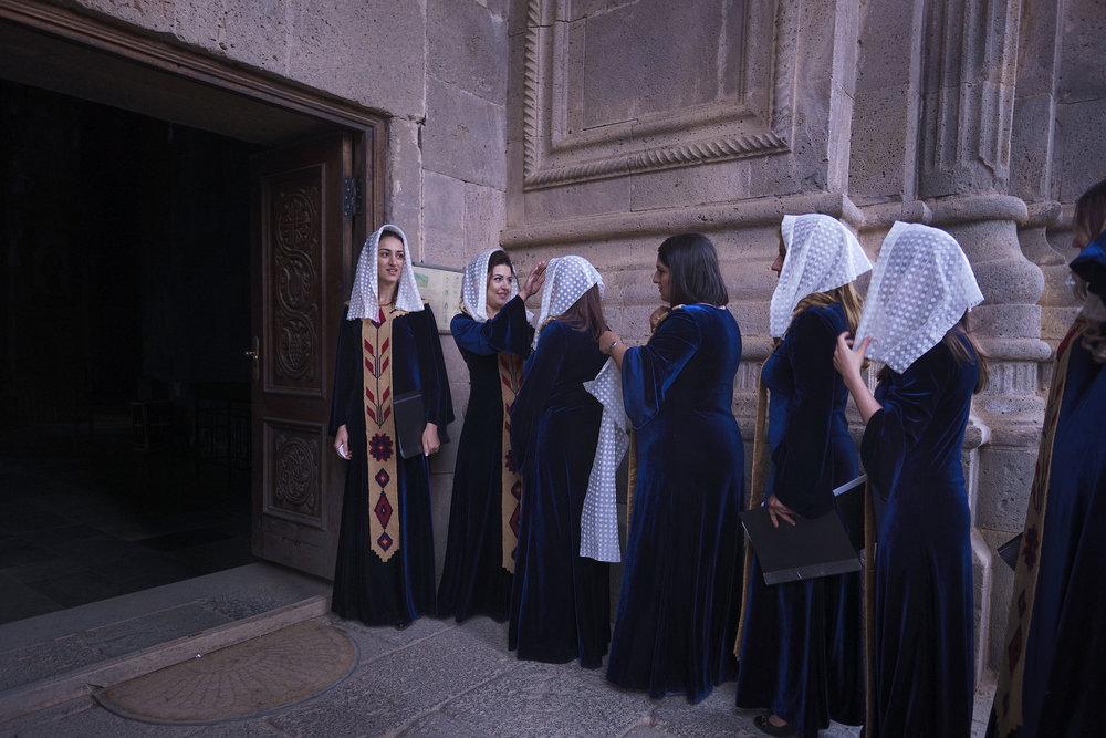 Armenia-Tatev-girls-from-a-choir
