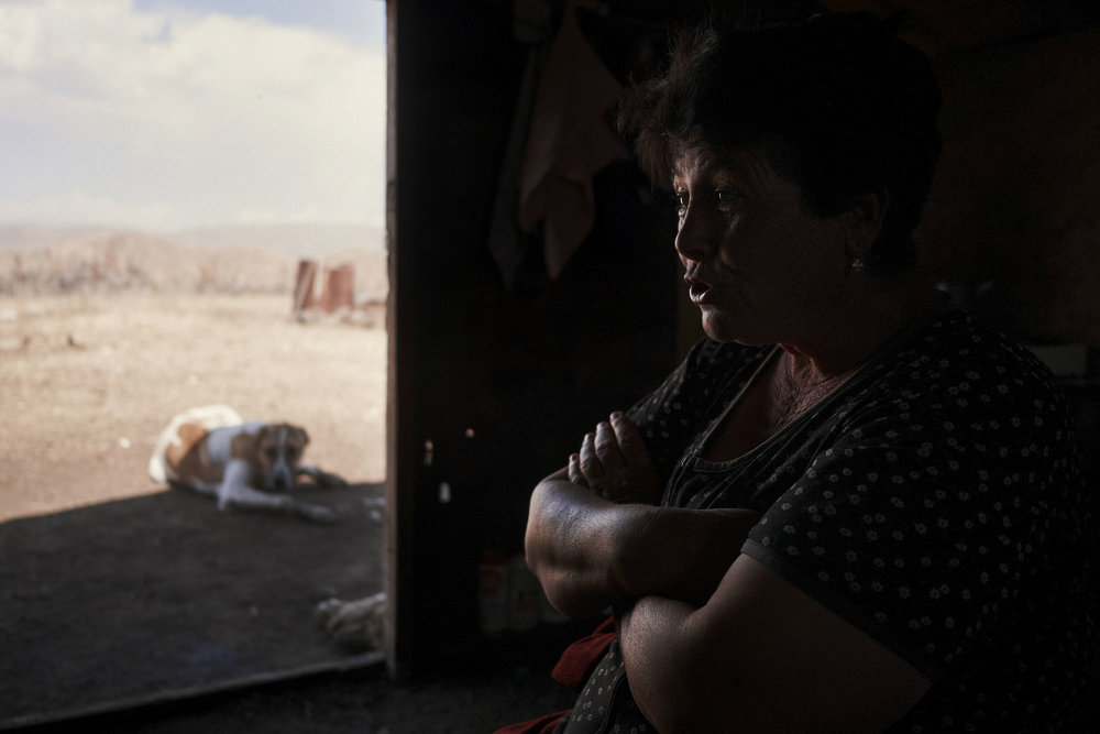 Armenia-Vayots-Sar-shepherd-woman-inside-hut