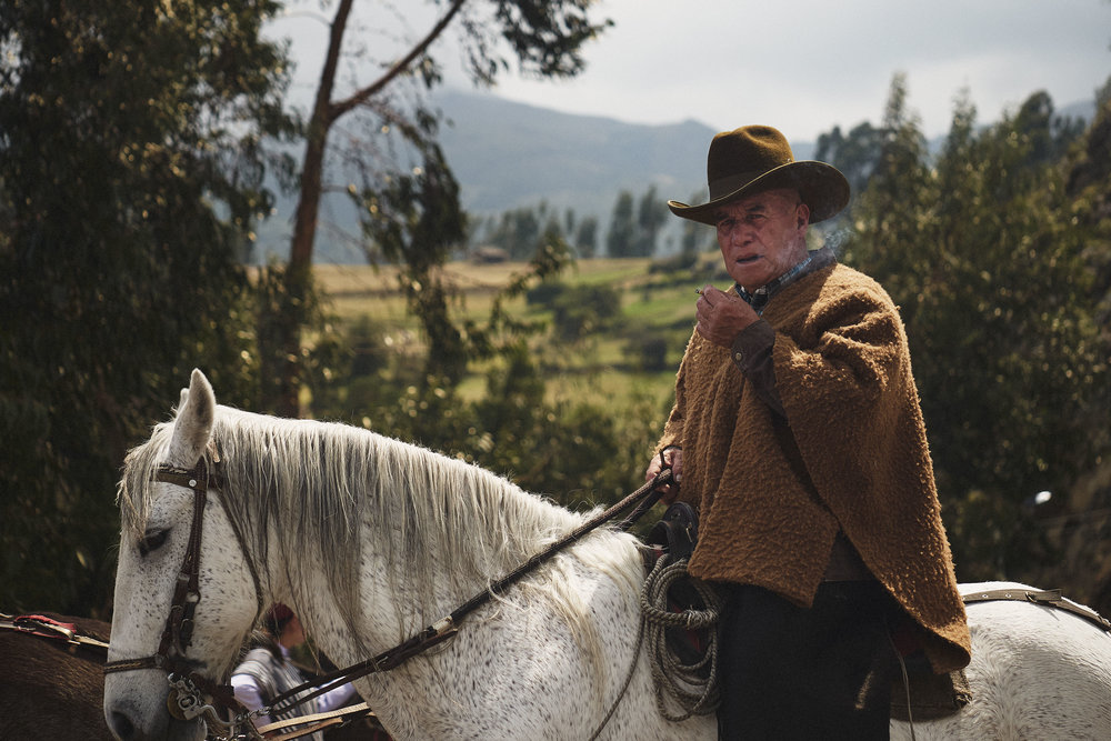 Elderly cowboy Mongua Boyaca Colombia