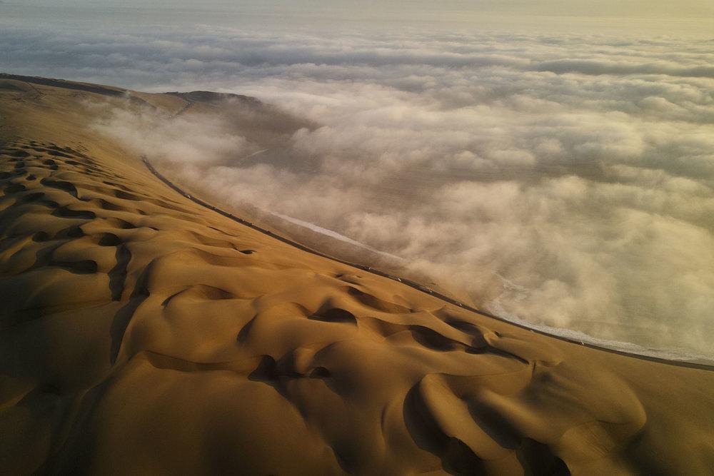 Desert along the coast in Peru
