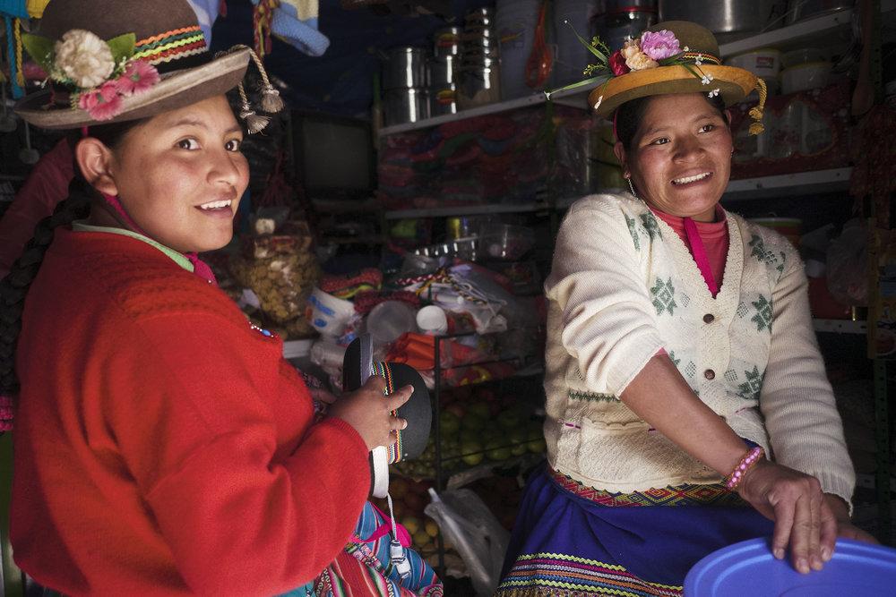 Quechua women in Puyca