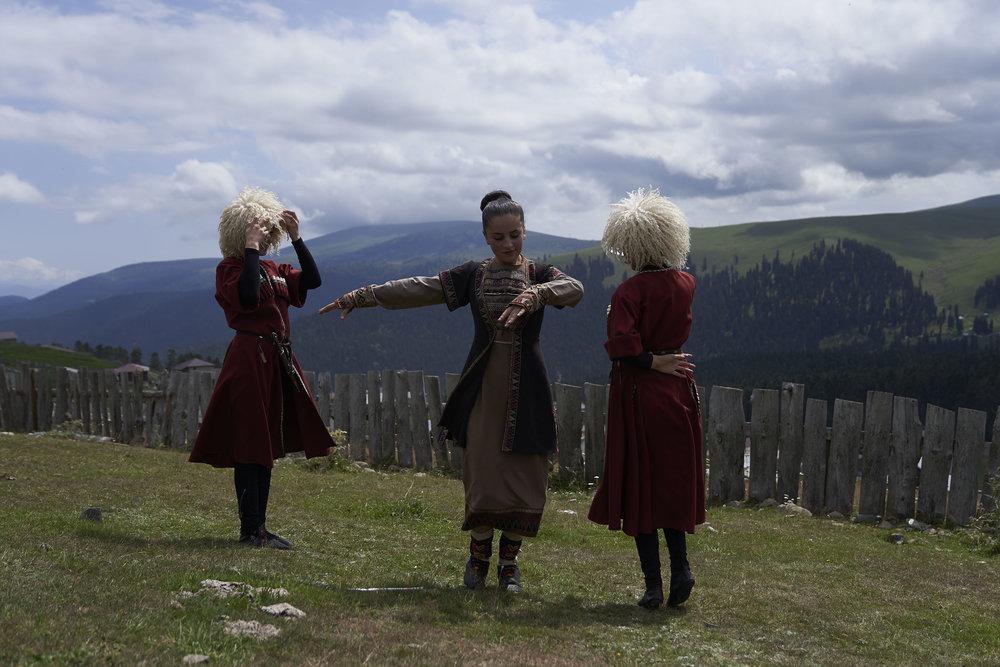 Girls dancing at a cultural festival in high Adjaria.JPG