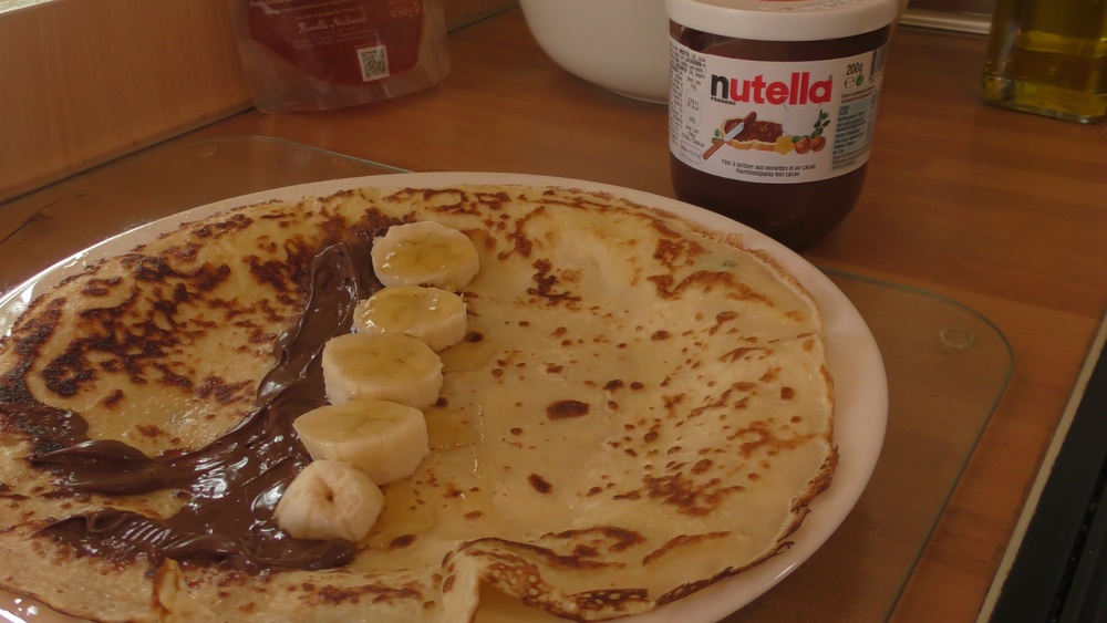 Perfect Pancakes with Banana and Nutella