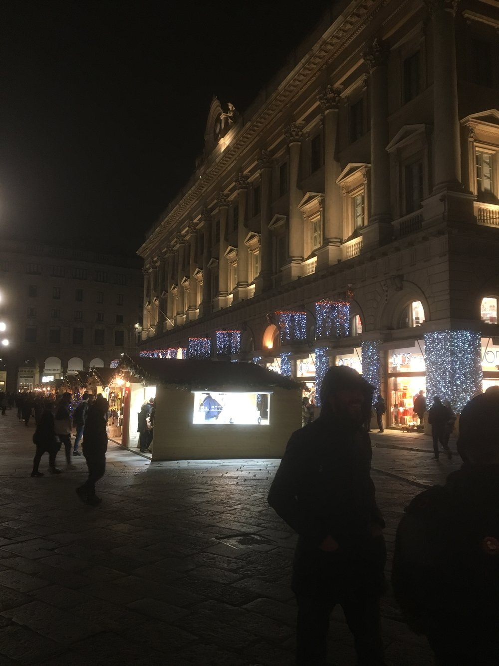 Christmas market Milan on New Year's eve