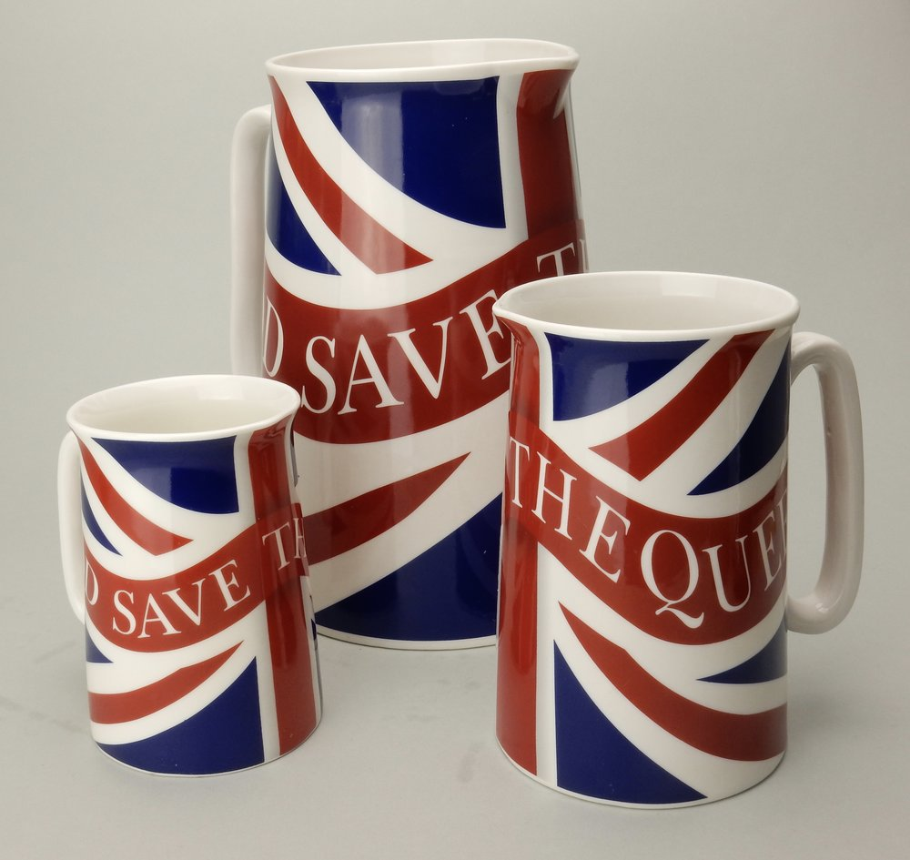 Union Jack jugs
