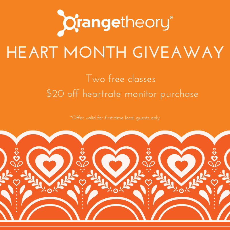 ORANGETHEORY FITNESS  - Two free classes & $20 off heart rate monitor