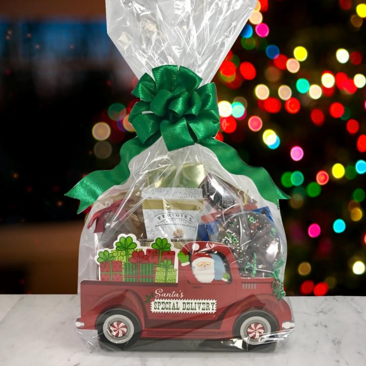 Santa's Truck Gift Basket