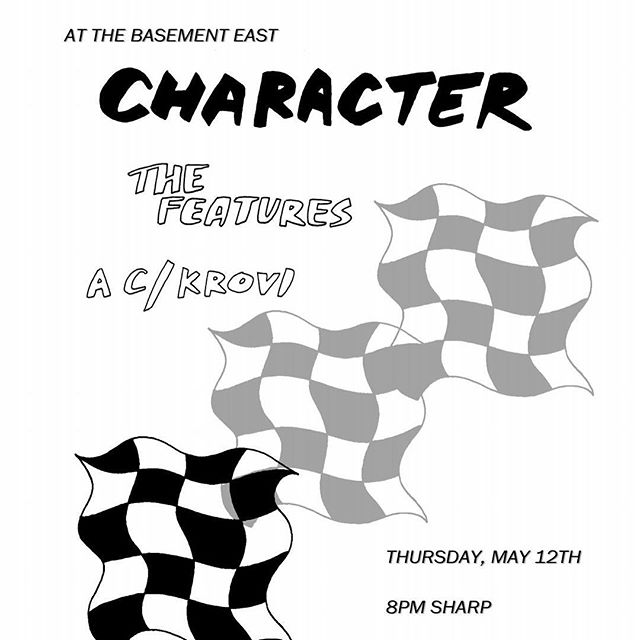 We're playing an early show tomorrow @thebasementeast with Character. Doors at 7:30..on at 8:45. All proceeds go to the family of Candice Ferguson.
