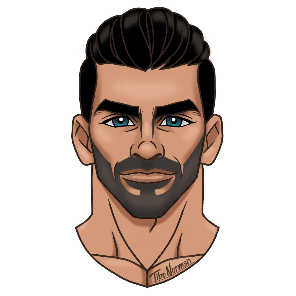 Cartoon version of Nyle Dimarco (winner of #ANTM cycle 22)