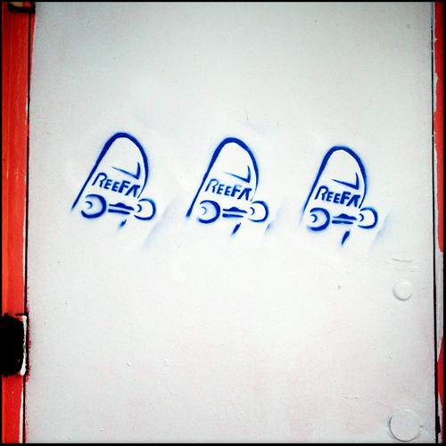 A REEFA stencil.