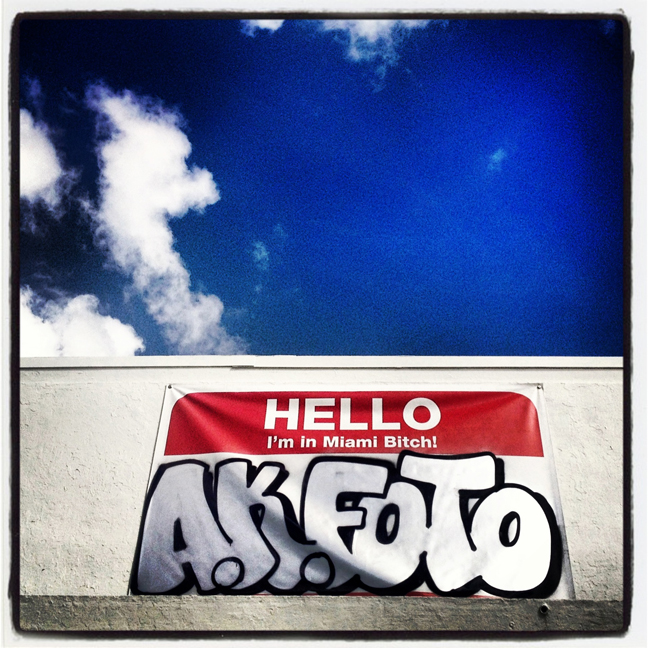 AK Foto Banner on N. Miami Avenue.