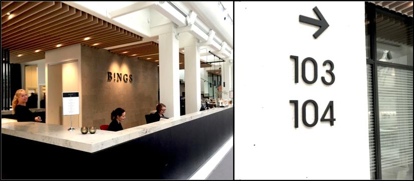 Når man træder ind i de nye lokaler, bliver man mødt med et venligt smil, i den lækre reception, der blandt andet indeholder lounge of café til møder og pauser.
