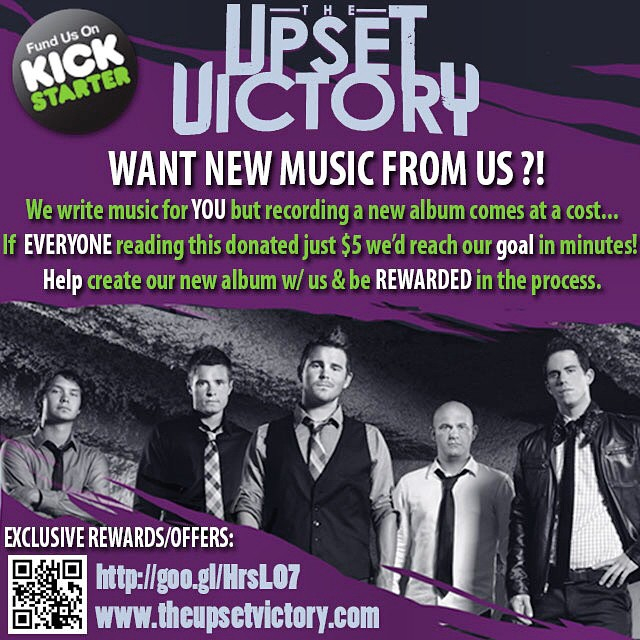 TUV Family Let's Rally On This - We Need Ya!   Help Make Our New Album A Reality Here Please:  http://goo.gl/HrsLO7    If everyone viewing this contributed $5 - we'd have a brand new release to deliver to ya AND you'd be REWARDED in the process: we're giving away a guitar, your name in our album credits, limited merchandise, a personal song writing session with us, autographed memorabilia, VIP packages to our CD release show, your own private concert & so much more!   Have a kick ass day!   Much Love,   The Upset Victory