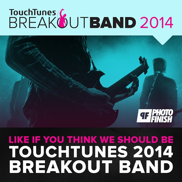"Some unexpected but great news came our way last night…We've been selected, out of a ton of great bands, to be a ""Top 10 Breakout Band"" of 2014 sponsored by  touchtunes  & Photo Finish Records ! It's a real honor to be nominated for this. Keep spinning the TUV catalogue on TouchTunes jukeboxes. More news coming!"