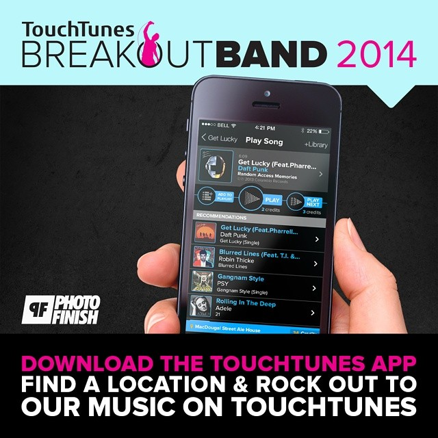 It's awesome to be featured along some great acts for the  touchtunes  'Breakout Bands of 2014'. Download the Touchtunes mobile app to find nearby TouchTunes locations & blast the entire TUV catalogue.    Want some FREE merch.? Post a selfie while playing any TUV song on TouchTunes & tag us in the post as well as the hashtag #BreakoutBand. The photo with the most likes will be featured on our site & win a FREE prize pack.   Thanks to Touchtunes & Photo Finish Records!    www.touchtunes.com/breakoutband