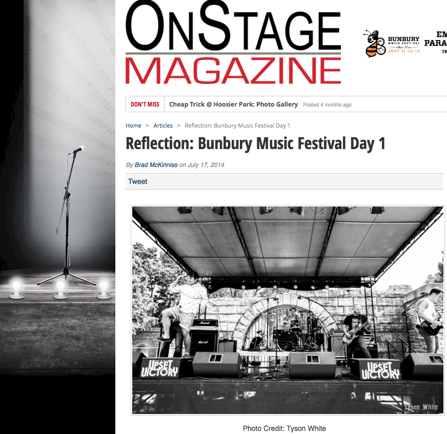 Thanks Onstage Magazine for the great review! Check out their full re-cap of Bunbury Festival along with a ton of other great artist reviews here:http://www.onstagemagazine.com/reflection-bunbury-music-festival-day-1/