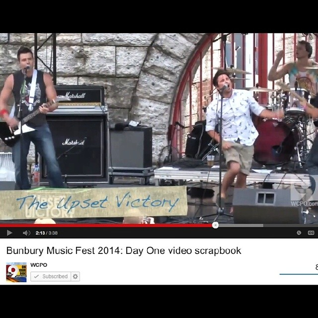 In case you missed our set at  bunburyfestival  - we have you covered! Check out this cool 'Bunbury Day 1 Video Scrapbook' Channel 9 News did. It features highlights from our set, clips from a lot of other great bands, and even our #1 fan little Brody makes a cameo!    http://www.wcpo.com/entertainment/local-a-e/bunbury-video-scrapbook-day-one-with-cage-the-elephant-empire-of-the-sun-heartless-bastards-more