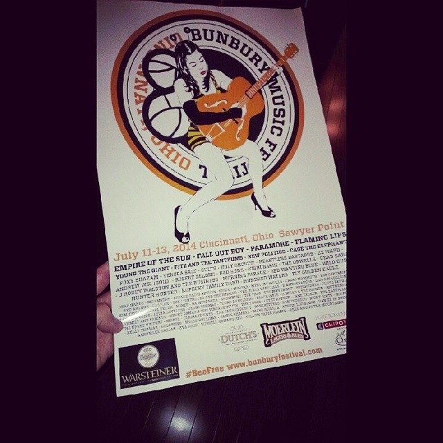 Hey - we know those dudes… If you've seen these flyers around your city, then you know it's time for the  bunburyfestival     !    Come see us TOMORROW Friday, July 11th at 2PM on the Amphitheater Stage!    http://bunburyfestival.com/schedule-2014