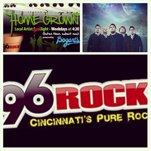 "Be sure to check us out on 96ROCK/96.5 FM Cincinnati ALL week long starting at 4:20 PM EST TODAY! Honored to be selected as part of their ""96ROCK Homegrown Artist of the Week Spotlight""!   Shout out to JD & 96ROCK for their support!    http://www.purerock96.com"