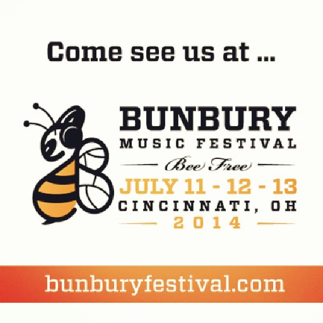 Bunbury Festival official lineup/schedule announcement!   *We rock The Amphitheater Stage Friday, July 11th at 2PM!*    http://bunburyfestival.com/schedule-2014     bunburyfestival