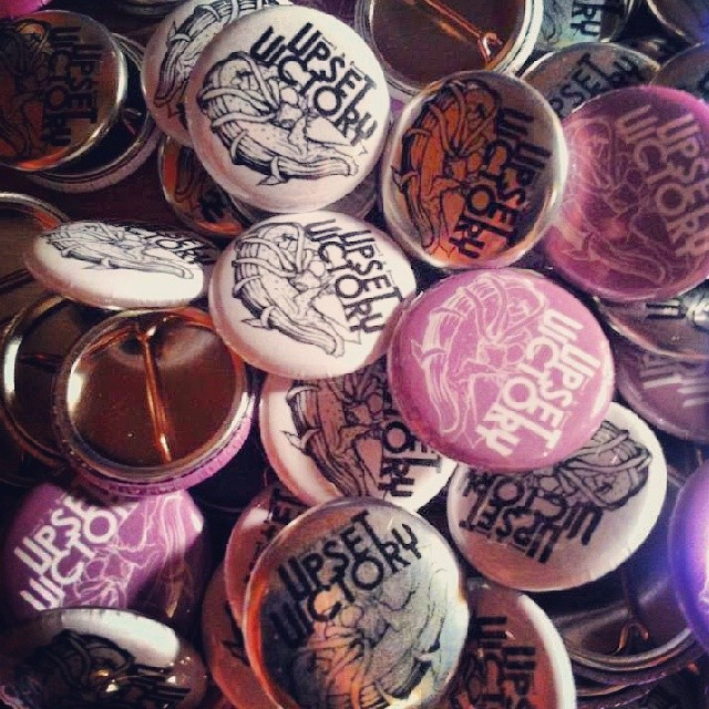 Custom TUV buttons for days… Courtesy of our dude Daisy Caplan of @foxy_shazam     Check out his stellar work here:    www.facebook.com/daisysbuttonandmagnet      #custom #band #buttons #art #logo #decal #watermark #trademark #musicians #theupsetvictory #rock #musicbiz #DIY #design