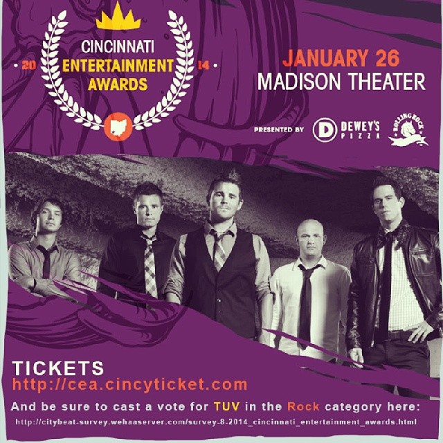 Hey gang. It's the LAST DAY to vote for the CEA Awards. Help us rally by casting a vote for The Upset Victory in the 'Rock' Category here:  http://citybeat-survey.wehaaserver.com/survey-8-2014_cincinnati_entertainment_awards.html      Every vote counts & we truly appreciate the support!     #awardshow #cincymusic #cincinnati #ohio #covington #kentucky #themadisontheater #citybeat #ceaawards #bands #vote #fans #ballot #rock #musicians #theupsetvictory