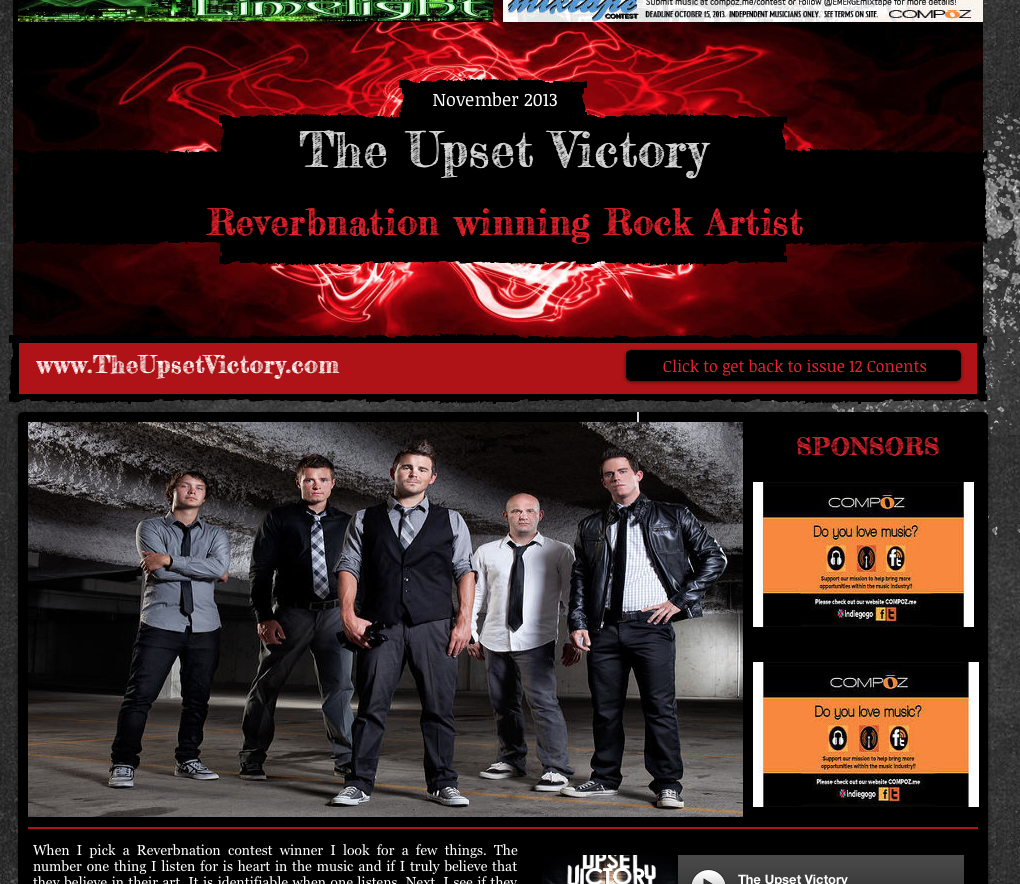 Check out our latest interview/feature with the good people over at Hip Rock Magazine [ hiprockmagazine ]! http://www.hiprockmagazine.com/#%21the-upset-victory/c1bto