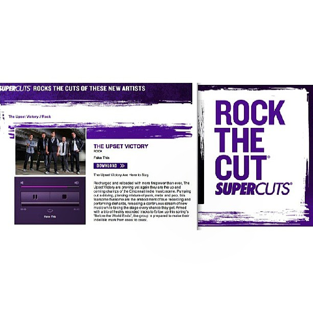 "We've teamed up w/ Supercuts again & are  featured in the 'Rock the Cut' promotion! Check out our latest track, ""Fake This"", on the Rock the Cut site.     http://rockthecut.supercuts.com/Home/ViewArtists/227      @supercuts #rockthecut #track #single #fakethis #wallstreet #supercuts #theupsetvictory #promotion #free #feature #download #rock #pop #music #art #album #CD #EP #lifestyle #bands #fashion #musicians #artists #musicbiz"