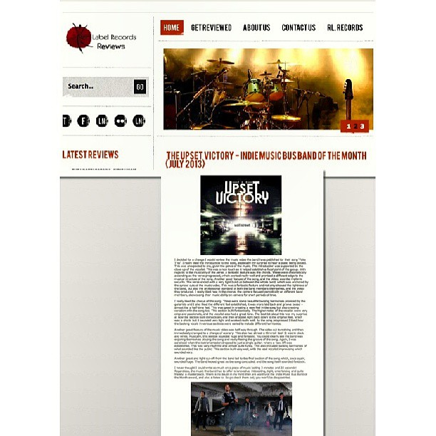 Getting more love overseas everyday…check out the latest & greatest detailed album review of our newest EP, 'Wall Street', courtesy of Red Label Records Reviews [United Kingdom]!     http://www.musicreviews.redlabelrecords.co.uk/index.php/80-genres/rock-soft-rock/105-the-upset-victory-indie-music-bus-band-of-the-month-july-2013    #red #label #records #reviews #UnitedKingdom #feature #band #musicians #theupsetvictory #wallstreet #rock #pop #EP #CD #album #overseas #love #comment #indie #artist #DIY #musicbiz #instagood @RedLabelReviews