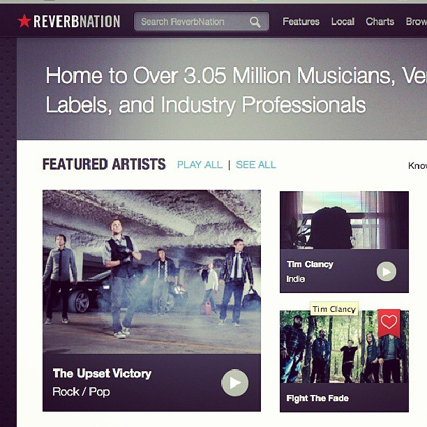 "ReverbNation has hand selected us to be a featured artist on their homepage. We're also a ""trending artist"" & currently in the Top 10 standings in our hometown. ReverbNation is an awesome way to discover some great new artists. Head over & check it out for all kinds of cool content! http://www.reverbnation.com/theupsetvictory @reverbnation #featured #artists #ReverbNation #homepage #apps #Facebook #music #hometown #love #fans #Cincinnati #ohio #top10 #bands #musicians #theupsetvictory #rock #pop #indieartist #DIY #musicbiz #press #trending #songs #videos"
