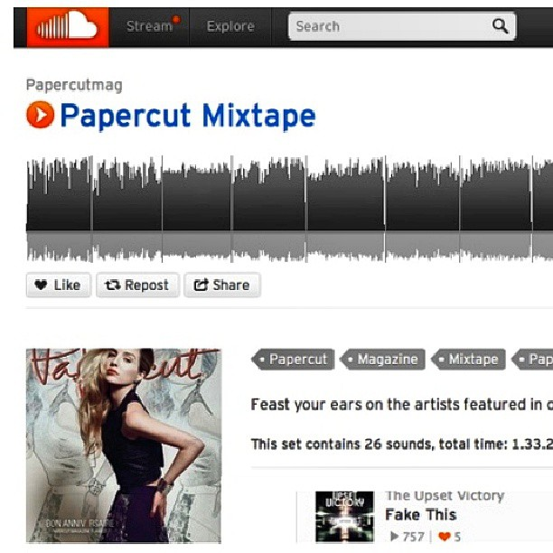 "We were honored to be included in the Anniversay Issue of Papercut Magazine last month. TUV is also being featured in Papercut Magazine's - ""Papercut Mix-tape"". Be sure to check out our single ""Fake This"" & other great artists here:      https://soundcloud.com/papercutmag/sets/papercut-mixtape     @papercutmag #anniversary #papercut #magazine #mixtape #issue #theupsetvictory #music #band #musicians #artists #fashion #art #lifestyle #online   #digital #print #fakethis #wallstreet #summer #feature #indieartists #soundcloud"