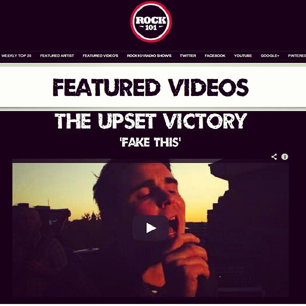 "Our music video for our single, ""Fake This"", is a featured video on Rock 101 Radio. Check it out friends!      http://www.rock101radio.com/FEATURED_VIDEOS_.html      #rock #radio #single #pop #music #video #wallstreet #theupsetvictory #feature #fakethis #iTunes #broadcast #summer #friends #DIY #media #musicbiz #indieartist #Cincinnati #ohio #cincymusic #friends #singer #band"