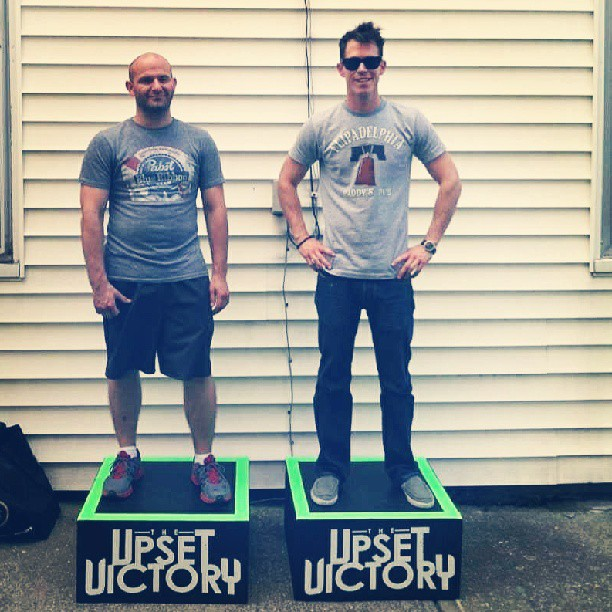 These two #dudes, @erictuv & @stephentuv are ready for the @bunburyfestival w/ some #custom #stage #platforms.  #vintage #logos #beefree #bunburyfestival #concert #bands #musicians #guitarist #bassist #rock #pop #wallstreet #summer